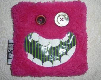 """Zippered bag """"Pink sweet Monster"""""""