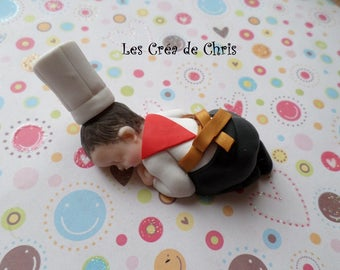 baby boy outfit Cook polymer clay.