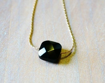 """Black"" Goldfilled 14 k gold necklace"