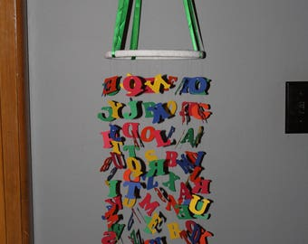 Alphabet Mobile / Nursery Mobile / Primary Colours
