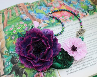 Necklace,Jewellery,Emerald necklace,Flower jewelry,Malachite,Gift,Beading,Bead necklace,Stone necklace,Statement necklace,Handmade,Beadwork