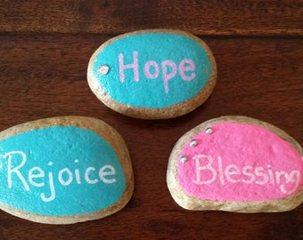 Personalized painted rocks