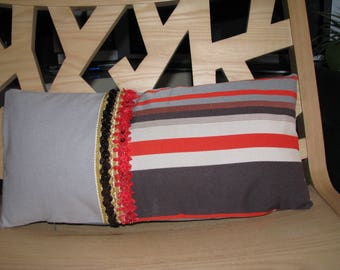 KENZO fabric Cushion cover and Bachette grey stripe ASSORTED
