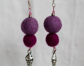 Felted earrings