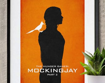 THE HUNGER GAMES Poster Minimalist Movie Posters Bedroom Large Wall Art Print Movie Lover Gift for Her College Dorm Mockingjay Part Katniss