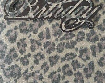Leopard shimmer happy birthday 5 x 7 card