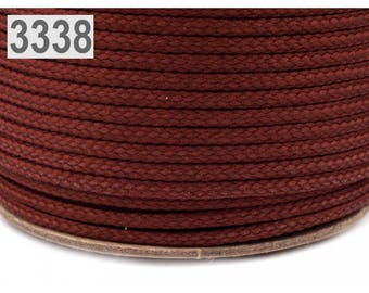 Brown polyester cord 1 m