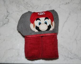 Super Mario Hooded Towel