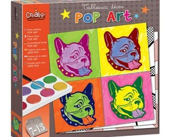Child/teen paint box: cards to be painted in Pop Art style / paint creative Kit / DIY painting Pop Art