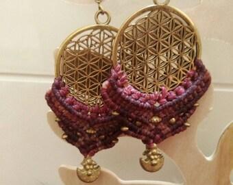 Jewelry,earrings, . handmade. macrame. handicraft