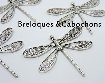 Dragonfly print silver good quality