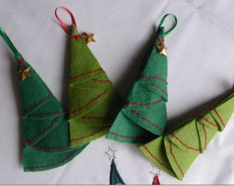 4 felt Christmas tree for Christmas trees