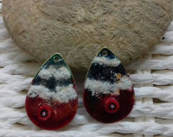 pair of enameled charms