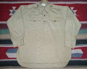 Vintage military 40s pullover khakis
