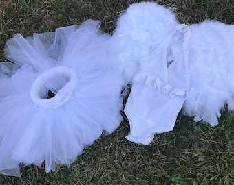 Angel Tutu outfit including wings
