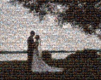 Printed Custom Photo Mosaic - You Choose the Pictures, We Create Your Mosaic