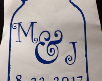 Mason Anniversary Jar 5-7in