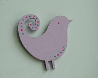 Handmade Sweet Lavender bird magnet