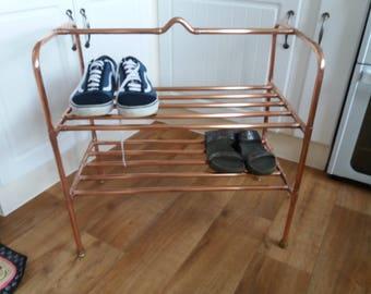 Rose gold/ copper shoe rack