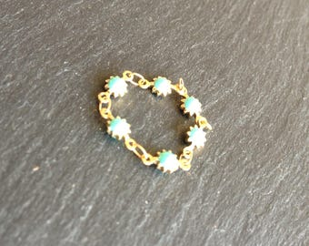 turquoise enamel chain ring