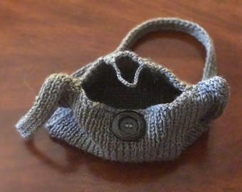 Young Girl's Purse - Gray, 8 x 5 inch purse