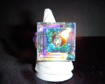 Very pretty color swarovski crystal ring