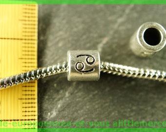 Pearl European N108 cancer sign astologique for bracelet charms
