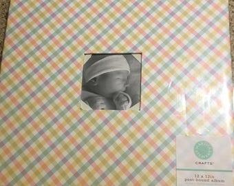 12 x 12 in Scrapbook Album - Pastel Gingham - Martha Stewart