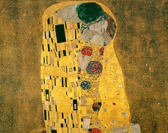 ORIGINAL design, durable and WASHABLE PLACEMAT - Gustav Klimt - the kiss - classic.