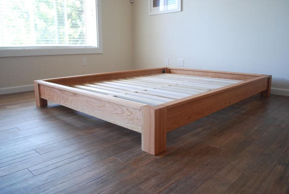 Lowprofile Platform Bed Simple Bed Frame Solid Hardwood