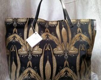 """Bag """"Tote Bag"""" black and Golden"""