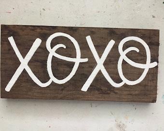 XOXO Wood Sign