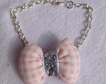 BRACELET with knot CAPITONNE gingham fabric