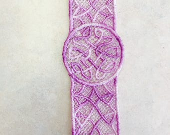 Embroidered Celtic Friendship Bookmark