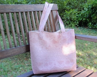 Faux dragon tote bag and matching purse