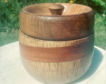 Curly Maple and mahogany cache