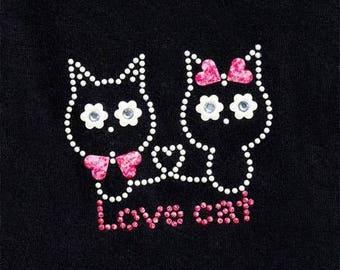 Cats rhinestone and metal melt 7.5 x 6.5 cm