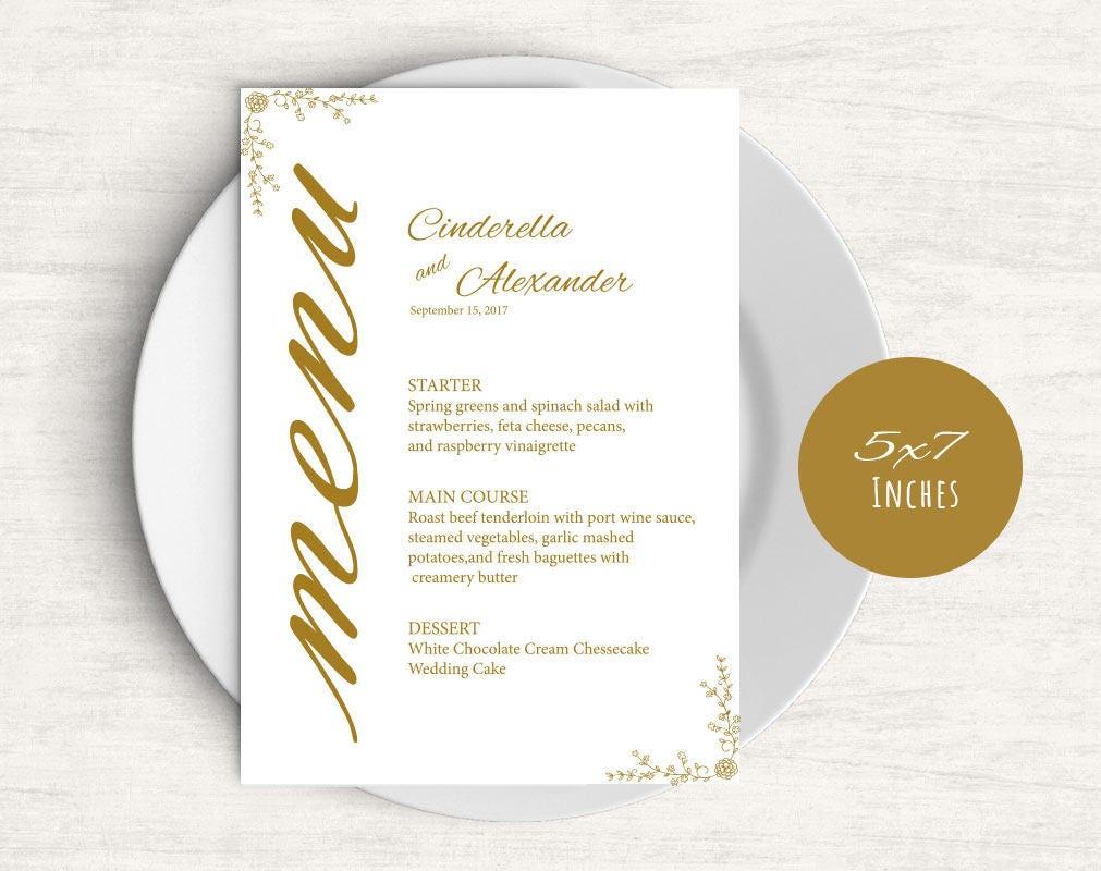 Gold Template Wedding Bar Menu Signs Signature Cocktail Printable Wedding Menu  Template Drink Menu Template Wedding