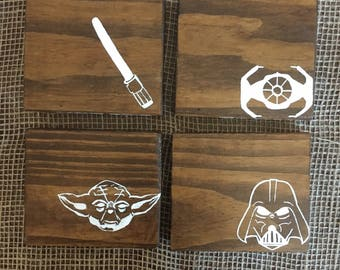 Star Wars Coasters, The Last Jedi Home Decor, Star Wars Housewarming, Wooden Gifts