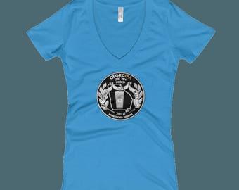GeorgIPA on My Mind - Women's V-Neck T-shirt