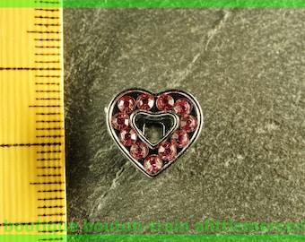Pearl Heart busy N2 full rhinestone bracelet