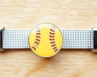 bead ball bracelet yellow busy baseball