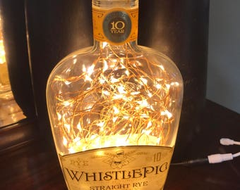 Whistle Pig 10 Year Rye Whiskey Bottle Lamp