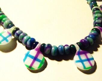 Fimo necklace * Quad Pastille *.