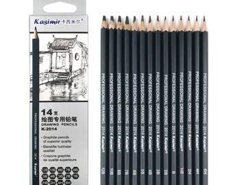 Graphite Pencil, Graphic Pencil, Sketch Pencil, Pencil Set, Drawing Set, Professional Pencil, Art Pencil, Drawing Pencil, Drawing Set