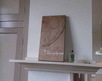 String art board feather lifestyle