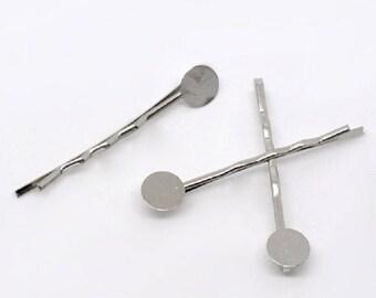 Silver plate hair clip
