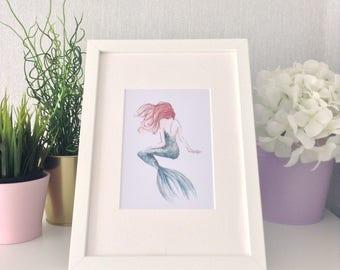 Nursery wall art/ Magical/ mermaid/ nursery prints/ watercolour/ watercolor painting/ print/ wall art/ kids decor