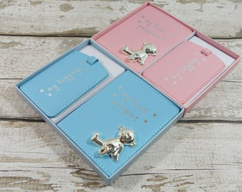 Babies My First Passport Cover Travel Tag ID Holder Wallet Case Gift For Baby Toddler Boy Girl Pink Blue Child Infant Shower Travel New UK