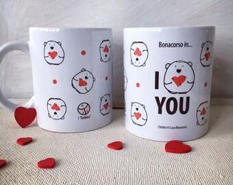 Mug ' I LOVE YOU ' of ' the Roofs ® '